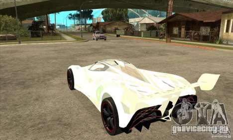 Mazda Furai для GTA San Andreas вид сзади слева