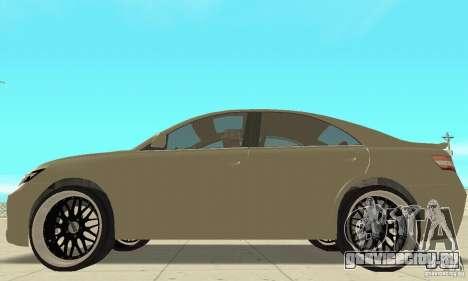 Toyota Camry Tuning 2010 для GTA San Andreas вид сзади слева