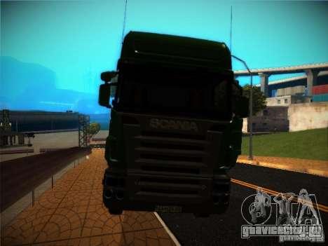 Scania R580 для GTA San Andreas вид изнутри