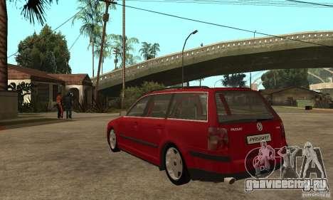 VW Passat B5 Variant для GTA San Andreas вид сзади слева