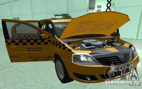 Dacia Logan Taxi Bucegi для GTA San Andreas вид сзади