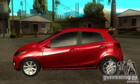 Mazda 2 2011 для GTA San Andreas вид слева