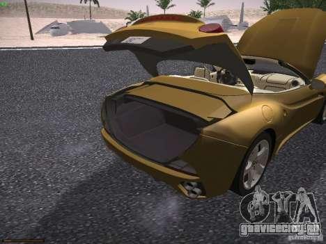 Ferrari California для GTA San Andreas вид сбоку