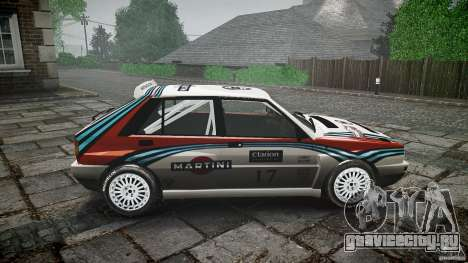 Lancia Delta Integrale Martini 1992 для GTA 4 вид изнутри