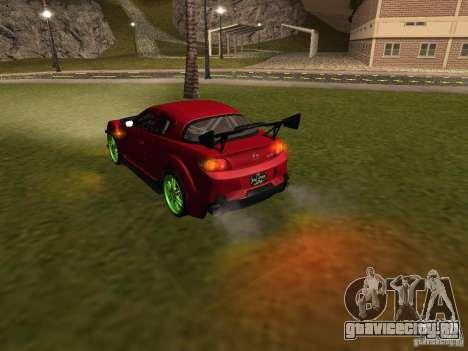 Mazda RX-8 R3 Tuned 2011 для GTA San Andreas двигатель