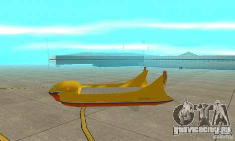 Воздушная платформа Air Carrier для GTA San Andreas вид сзади слева