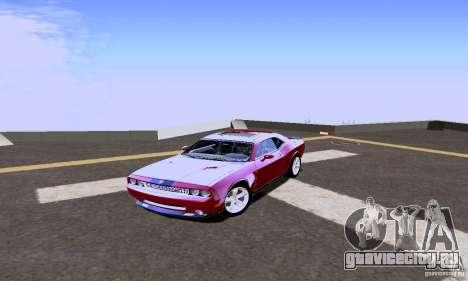 Dodge Challenger SRT8 2009 для GTA San Andreas вид сзади слева