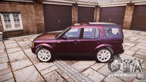 Land Rover Discovery 4 2011 для GTA 4 вид слева