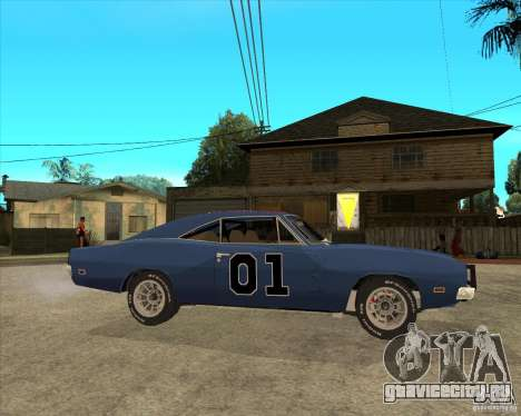 Dodge Charger General Lee Генерал Ли для GTA San Andreas вид справа