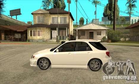 Subaru Impreza WRX Wagon 2002 для GTA San Andreas вид слева