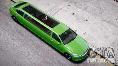 Lexus GS450 2006 Limousine для GTA 4 вид снизу