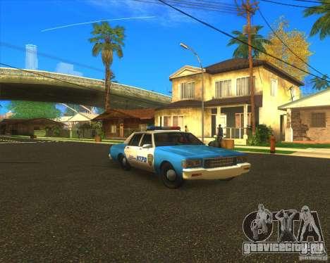 Chevrolet Caprice Classic 1986 NYPD для GTA San Andreas вид сзади