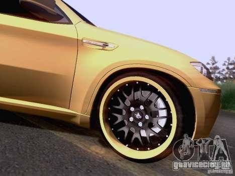 BMW X6M Hamann для GTA San Andreas вид сбоку