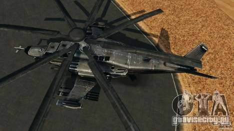 KA-50 Black Shark Modified для GTA 4 вид справа