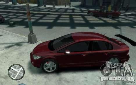 Honda Civic 2006 для GTA 4 вид слева