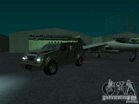FBI Truck from Fast Five для GTA San Andreas вид сзади слева