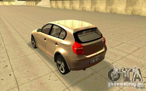 BMW 118i для GTA San Andreas вид сзади слева
