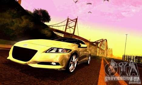 Honda CR-Z 2010 V2.0 для GTA San Andreas двигатель