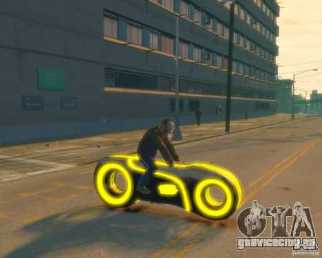 Мотоцикл из Трон (желтый неон) для GTA 4 вид справа