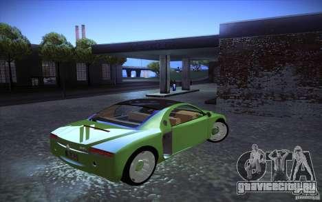 Renault Fiftie Concept для GTA San Andreas вид сзади слева