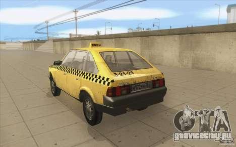 АЗЛК 2141 Москвич Такси v2 для GTA San Andreas вид сзади слева