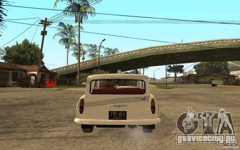 Москвич 423 М Скорая Помощь для GTA San Andreas вид сзади слева