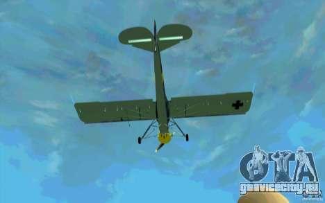 Fiesler Storch для GTA San Andreas вид изнутри