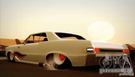 Pontiac GTO Drag Shark для GTA San Andreas вид сверху