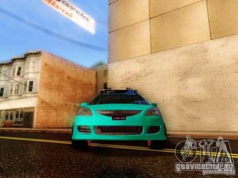 Mitsubishi Lancer для GTA San Andreas вид сзади