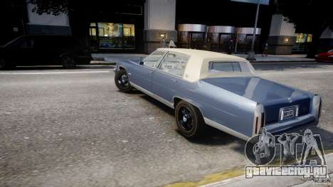 Cadillac Fleetwood Brougham 1985 для GTA 4 вид сверху