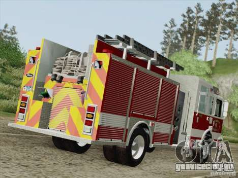 Pierce Pumpers. San Francisco Fire Departament для GTA San Andreas вид справа