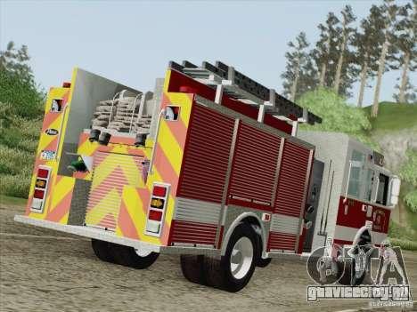 Pierce Pumpers. San Francisco Fire Departament для GTA San Andreas вид справа