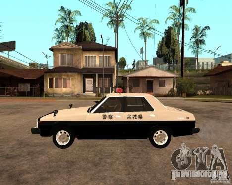 Nissan Skyline 2000 GT Police для GTA San Andreas вид слева