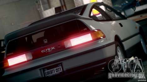 Honda CR-X SiR 1991 для GTA 4 вид справа