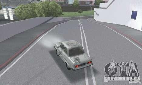 ЗАЗ 968м побитый для GTA San Andreas вид снизу