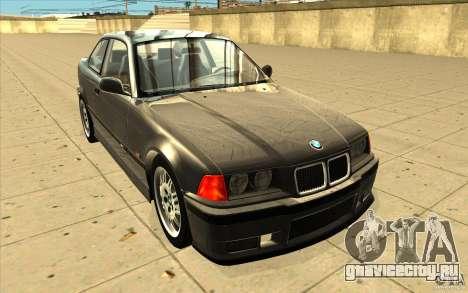 BMW E36 M3 - Stock для GTA San Andreas вид сзади