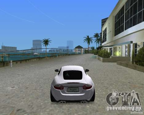 Jaguar XKR S для GTA Vice City вид сзади слева