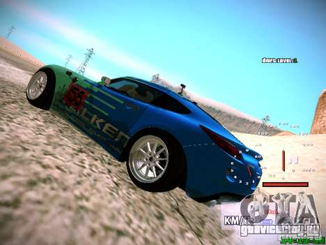 Pontiac Solstice Falken Tire для GTA San Andreas вид сзади