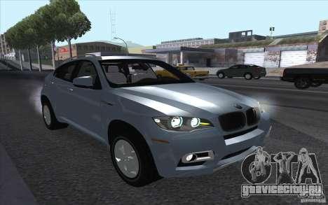 BMW X6M 2013 для GTA San Andreas вид сзади слева