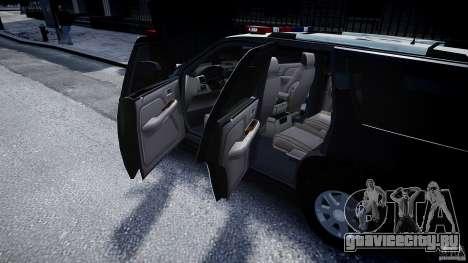 Cadillac Escalade Police V2.0 Final для GTA 4 вид сбоку