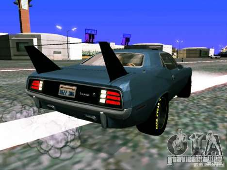 Plymouth Cuda AAR 340 1970 Muscle Cars для GTA San Andreas вид слева