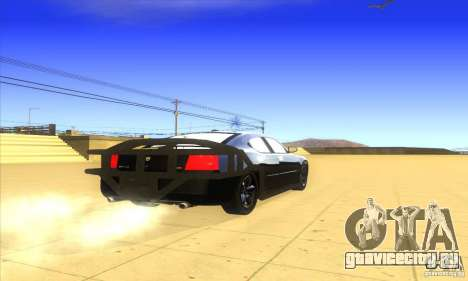 Dodge Charger From Fast Five для GTA San Andreas вид справа