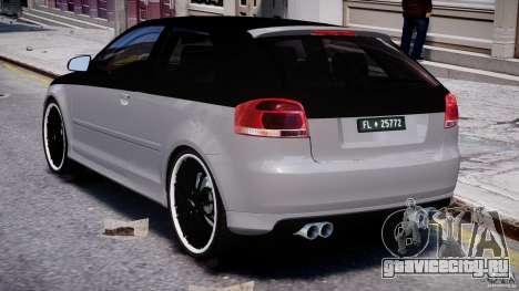 Audi S3 для GTA 4 вид справа