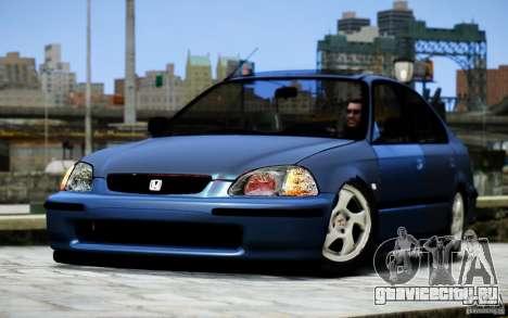 Honda Civic VTİ для GTA 4 вид сзади