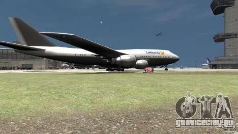 Lufthansa MOD для GTA 4 вид сзади слева