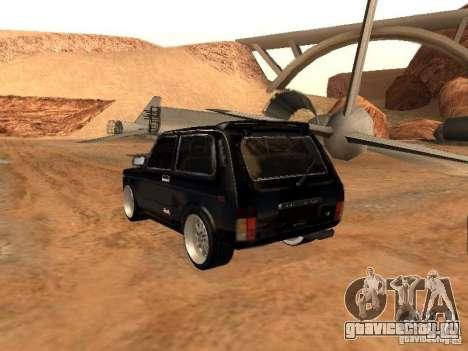 ВАЗ 2121 Tuning для GTA San Andreas вид сзади