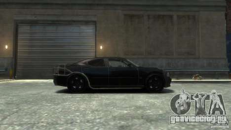 Dodge Charger Fast Five для GTA 4 вид слева