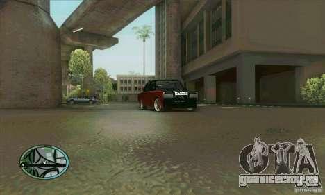 ВАЗ 2107 Tuning для GTA San Andreas вид сбоку