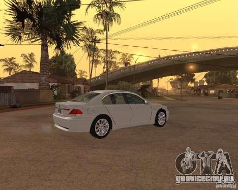 BMW 760I 2002 для GTA San Andreas вид сзади слева