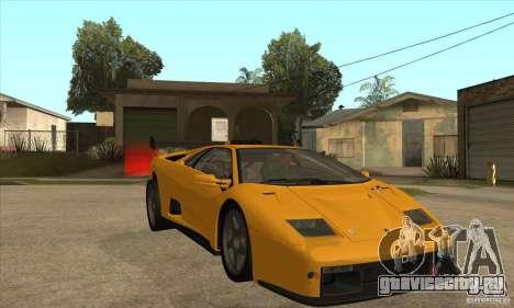 Lamborghini Diablo GT-R для GTA San Andreas вид сзади